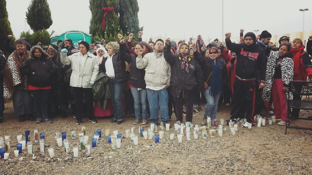 Huelga en una maquiladora en Ciudad Juárez